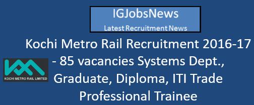 kmrl-recruitment-november-2016