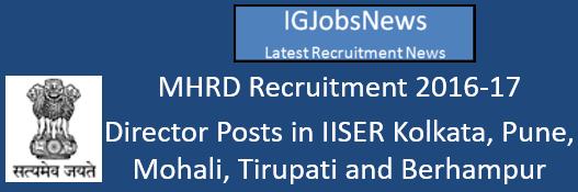 mhrd-iiser-director-post-november-2016
