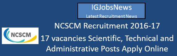 ncscm-recruitment-november-2016