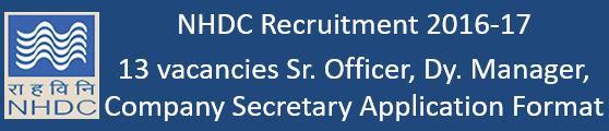 NHDCL Vacancy Govt. Jobs 2016-17