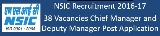 NSIC Govt. Jobs 2016-17