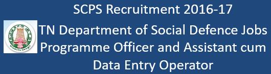 TN SCPS Govt. Jobs 2016-17