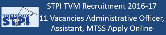 STPI TVM Govt. Jobs 2016-17