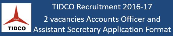 TIDCO Govt. Jobs 2016-17