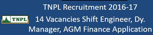 TNPL Govt. Jobs 2016-17