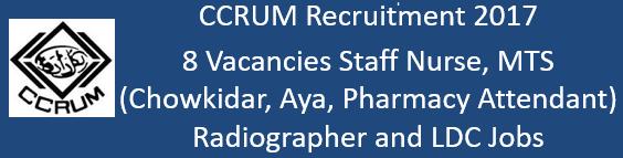 CCRUM Govt. Jobs 2017
