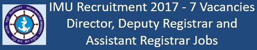 IMU Govt. Jobs 2017