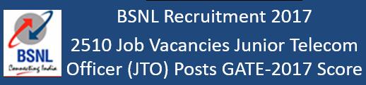BSNL Govt. Jobs 2017