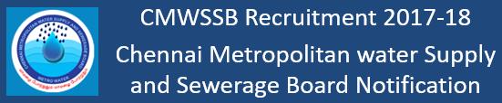 CMWSSB Govt. Jobs 2017-18