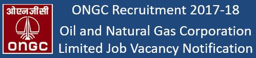 ONGC India Govt. Jobs 2017-18