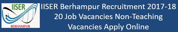 IISER Berhampur Govt. Jobs 2017