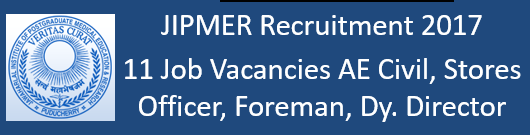 JIPMER Govt. Jobs 2017