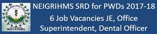 NEIGRIHMS Govt. Jobs 2017