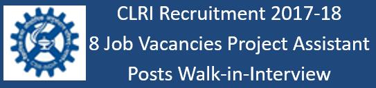 CSIR CLRI Govt. Jobs 2017